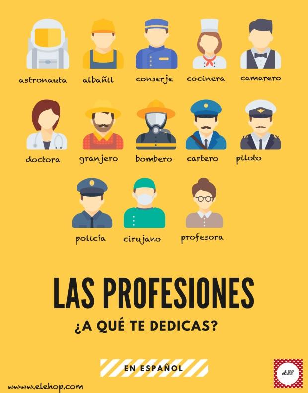 las profesionesposter